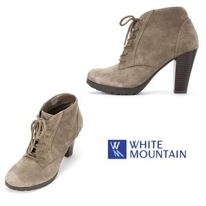 White Mountain Tan Suede Booties | 8.5